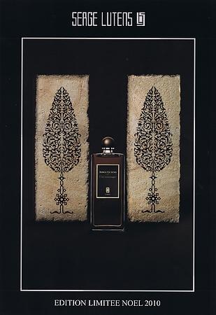 Serge Lutens - Cuir Mauresque Edition Limitée Noël 2010 Pub