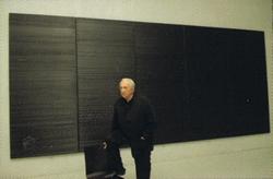 Inspiration du peintre français Pierre Soulages et son oeuvre l'Outre-Noir