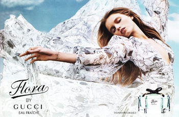Gucci - Flora by Gucci Eau Fraiche - Pub avec Abbey Lee Kershaw