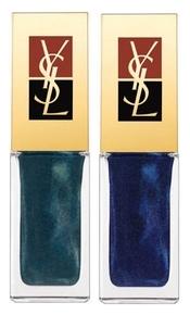 Yves Saint Laurent - La Laque 43 Wintergreen et 44 Moonlight Blue
