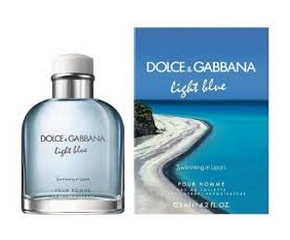 Dolce & Gabbana Light Blue Homme Swimming in Lipari