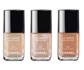 Le Vernis Chanel Collection Les Beiges N°659, 661, 663