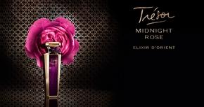 Publicité Parfum Trésor Midnight Rose Elixir d'Orient