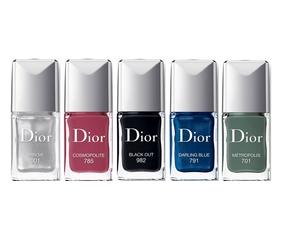 Dior Vernis N°001 Miroir, N°701 Metropolis, N°785 Cosmopolite, N°791 Darling Blue, N°982 Black Out