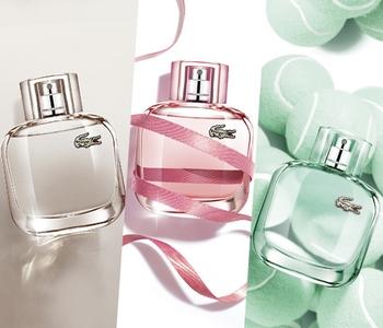 Les parfums Eau de Lacoste pour Elle Natural, Sparkling et Elegant