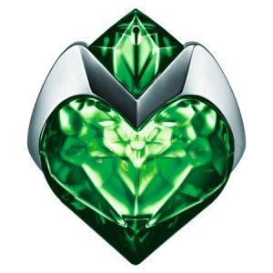 Le flacon émraude en forme de cœur Aura Mugler
