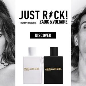 La pub des parfums Just Rock Zadig & Voltaire