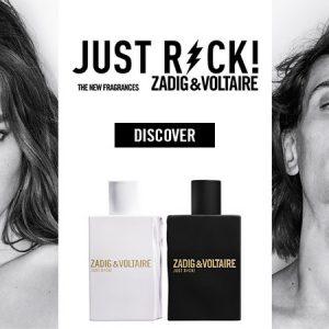 La pub des parfums Just Rock Zadig & Voltaire