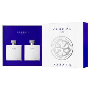 Un nouveau coffret inédit pour le retour du parfum mythique Chrome Pure d'Azzaro