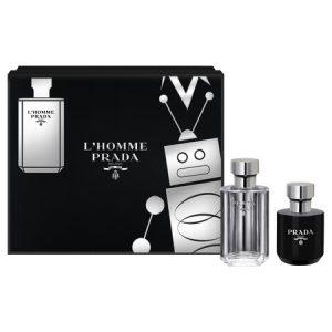 La nouvelle icône parfumé de Prada : L'Homme, disponible un coffret
