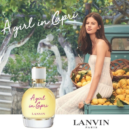 Pub du parfum A Girl in Capri de Lanvin