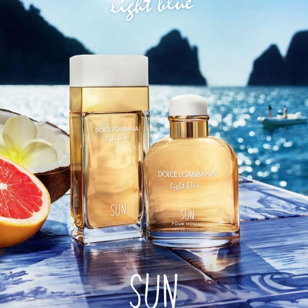 Les parfums Light Blue Sun Homme et Femme Dolce & Gabbana
