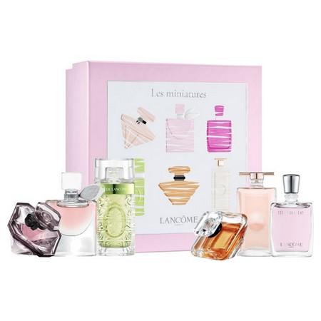 six grand parfums Lancôme en miniature dans un nouveau coffret